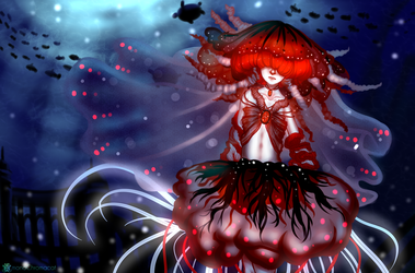 Red Jellyfish by monoChromacat