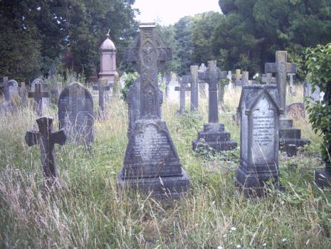 the old cemetary by TheUnGood-Stock