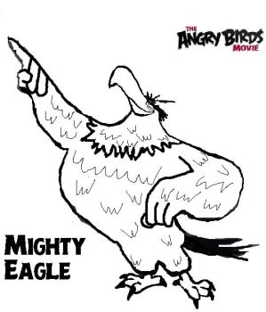Angry Birds Mighty Eagle Coloring Pages   Bgcentrum