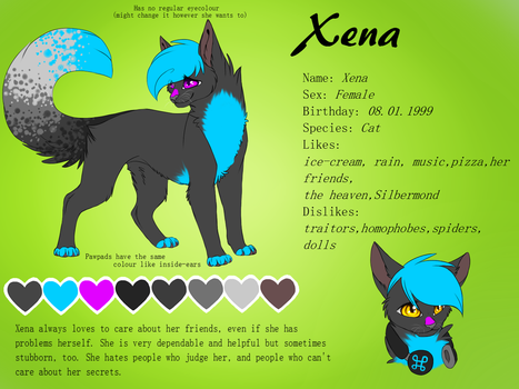 Xena - New Ref Sheet by Sorasongz
