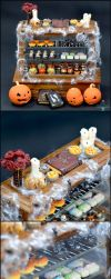 2017 Halloween Bakery Display Details by PepperTreeArt