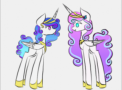 flurry heart and diamond shield by mlpsketchimagination