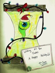 Happy Holiday's from Sam Septiceye by WolfsBane54