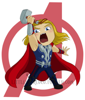 Chibi Thor by DemonLuna
