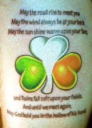 Irish Blessing and Shamrock by Furious247