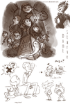 Don't Starve Sketches by Taylor-Denna