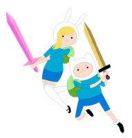 Adventure Time: Fionna n' Finn by janelvalle