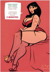 Mulan - 2 Minutes - Cartoon PinUp by HugoTendaz