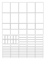 Blankplanner Stickers by Excalababe
