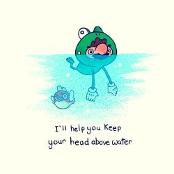 Keep Your Head Above Water by paperbeatsscissors