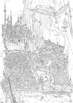 City of the Above the other side sketch by Jowybean