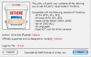 Parche uxtheme.dll v.1.3 by Macfree
