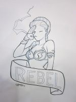 Bmore 2011: Rebel Leia by stratosmacca