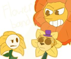 Flowey, Fredbear and Cagney FLOWER BAND by Mrs-Spring45