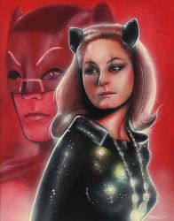 Julie Newmar as Catwoman by deathcockroach
