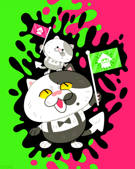 Fat Cats with Flags by Versiris
