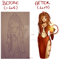 Before/After - Fire by Kiumii