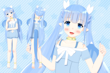 [Outdated] Lulu MMD Model DL CLOSED - Ver. 1.02 by Lululewd