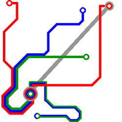 Transit Map in a Square by StarEmblem97