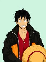 luffy in naruto costume by sharingandevil