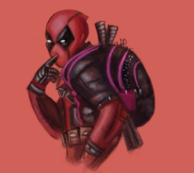 Deadpool Study: Paint Continue by PowerRuby