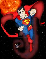 Superman Colored by StickWilde