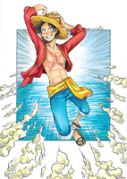 Monkey D. Luffy by Gelicia
