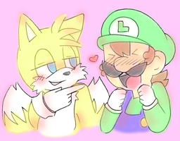 Luigi x Tails by Sugared-Almond