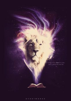 Better be a Lion than a sheep by DVArtworks
