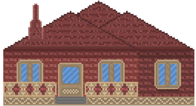 Pixel house-red by Grigoreen