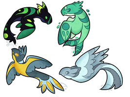 Ikenoko Guest Adopts (Setprice, Closed) by grayscail