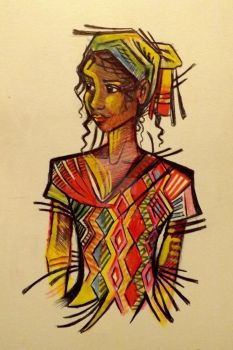 Guatemalan abstract portrait. by Dustywallpaper