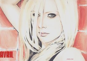 Avril_in_watercolors by missbeautifool