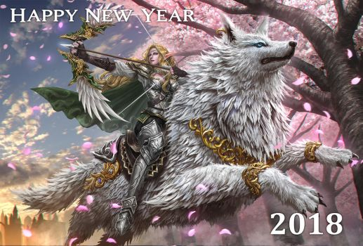 Happy new year 2018 by Ze-l