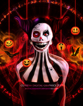 Scary Clown by MysticSerenity