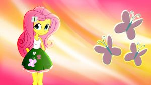Equestria Girls Fluttershy Wallpaper by Mr-Kennedy92