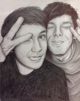 Dan and Phil photobooth by Littlemuffinme