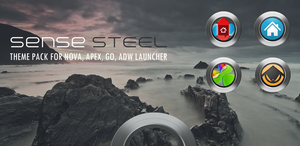 Sense Steel Theme Pack for Android by bagarwa