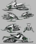 Smowmobile Sketches 1 by Hydrothrax