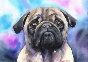 Pug by GeorgeArt23