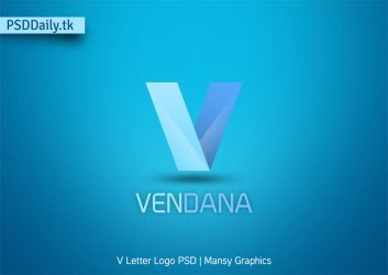 V Letter Logo Free PSD Template by mansy-graphics