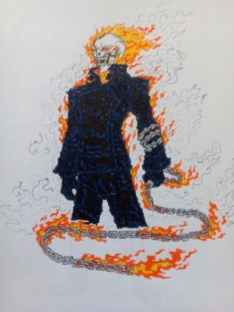 Ghost Rider Fanart by marco-lm