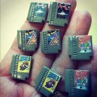 NES Game Miniatures by MyLitteLunchBox