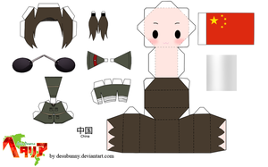 Hetalia China Papercraft by tsunyandere