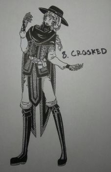 Inktober Day 8: Crooked by Zanyzarah