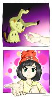 Be my friend~ Mimikyu by Almoprs
