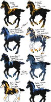 Hallow x Borealis Foals - SOLD by gyngercookie