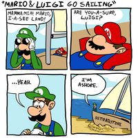 Mario and Luigi go Sailing by PepperoniDeluxe