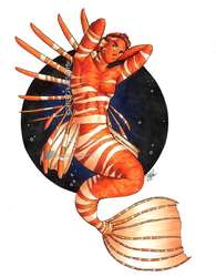Lionfish Merman Guy v2 by sambeawesome