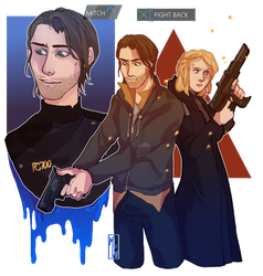 [Detroit: Become Human OC] Uprising Warriors by M-F-W